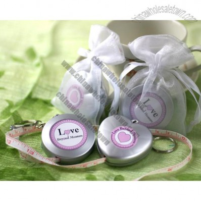 Love Beyond Measure - Measuring Tape Keychain in Sheer Organza Bag