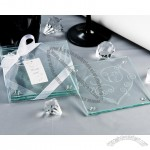 'Love Di-Vine' Elegant Heart Glass Coaster