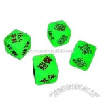 Love Game Dice Glow in Dark