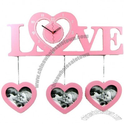 Love Wall Clock Festive Hanging Watch Decoration Clock