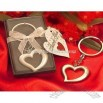 Love heart wedding keychain