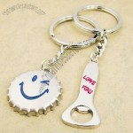 Love you Bottle Cap & Bottle Opener Lovers' Keychains