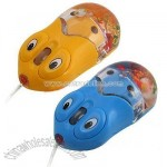 Lovely Blue USB Optical Wheel Mouse for PC w/ Mini Aquarium