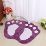 Lovely Footprint Doormat for Bathroom