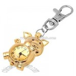 Lovely Mini Piggy Key Chains Quartz Fashion Watch