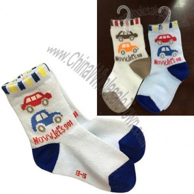 Lovely baby boy Socks with Car Pattern