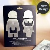 Lovers Encounter men and women Stainless Steel Bottle Opener