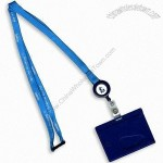 Lube Lanyard with Rigid Badge Holder