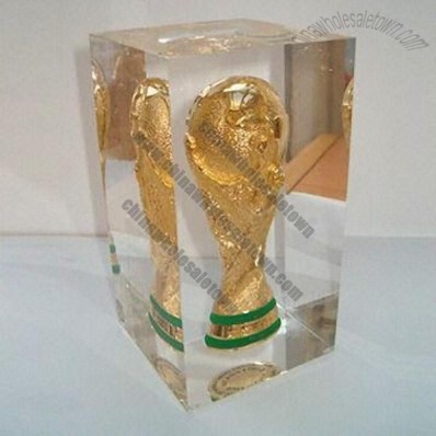 Lucite Medal with Embedment, Crystal FIFA Football World Cup Award