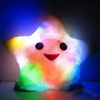 Lucky-Star Illuminated LED Light Up Pillow New
