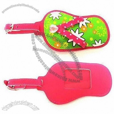 Luggage Tag in Flip-flops Shape