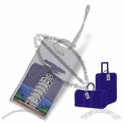 Luggage Tags with Embroidered Patch or Emblem