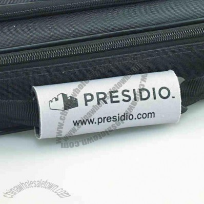 Luggage handle wrap scuba tag, with Velcro, w 4 1/2