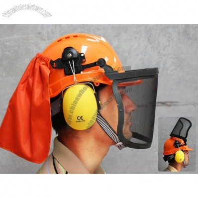 Lumberjack Helmet with Safety Visor & Earmuffs