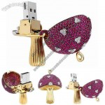 Luxurious Jewellery Mushroom USB Flash Drive