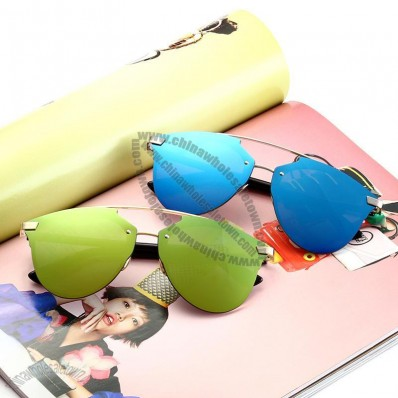 Luxury Female Metal Sunglasses UV400 Shades
