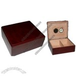 Luxury and Handsome Wooden Cigar Box Including Humidifier and Hygrometer