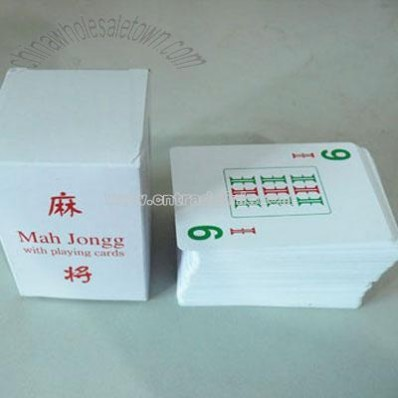 MAH JONGG with Playing Card