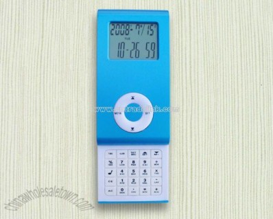 MP3 Slip calendar with calculator