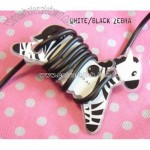 MP3 ipod Earphone Tidy Wrap Winder - White Zebra