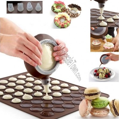 Macarons Silicone Bakeware Set with Decorative Tool