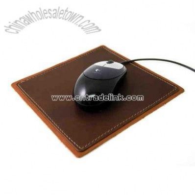 Machine Sewn - Leather mouse pad