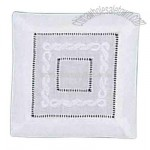 Madeira scroll and hemstitch pure linen coaster napkin