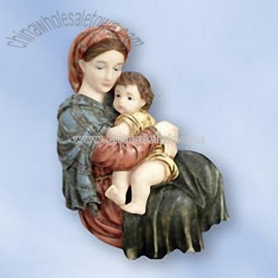 Madonna and Child Florentine Wall Plaque