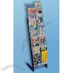 Magazine Literature Paper Scrapbook Rack 20 Pocket Black Merchandiser New