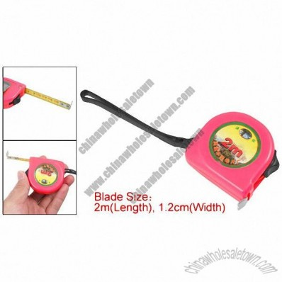 Magenta 2M Retractable Measuring Tool Tape Measure w Fixed Lock