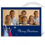 Magi Gifts Blue Holiday 5x7 folded card