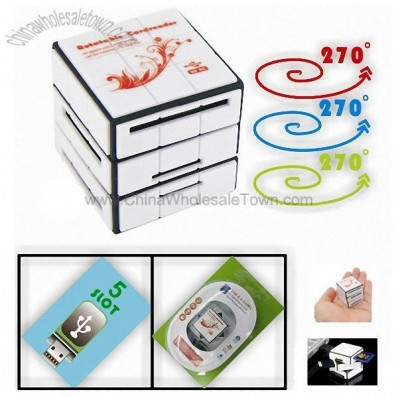 Magic Cube Rotatable all in one USB Card Reader