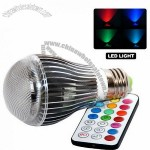 Magic Lighting High Quality 5W RGB Multi Color E27 LED Light Bulb With Memory Feature Remote Control