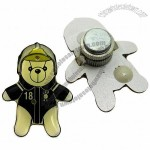Magnetic Flashing Bear-shaped Pin with 2 LED Lights