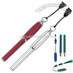 Magnetic ball pen with lanyard and break-away cord