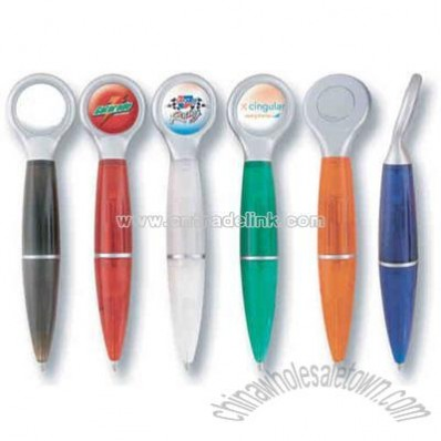 Magnetic ballpoint pen with dome design