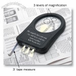 Magnifying Tool with Light and Tape Measure