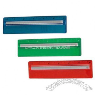 Magnifying color ruler, 6 inch.