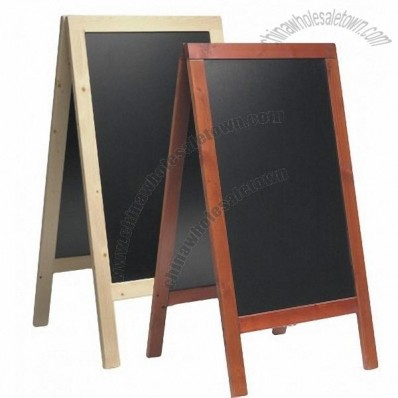 Mahogany Chalkboard Pavement Sign