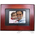 Mahogany wood digital photo frame