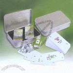 Majong Card Set with Metal Case