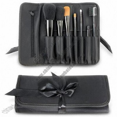 Makeup Brush Kit with PBT Synthetic Hair Tip, PU Bag and Plastic Handle