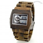 Male Analog Wooden Electronic Watch