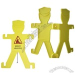 Man Shaped Caution Board - Cleaning