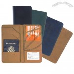 Manmade Leather Checkpoint Passport Case