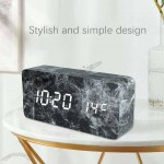 Marbling Induction Voice Control Digital Alarm Clock Timer