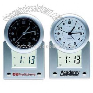 Martin analog clock with LCD