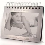 Matte Silver Spiral Photo Album w/ 4x6 Frame