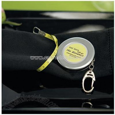 Measuring Tape Keychain Wedding Favors