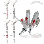 MedMemory Medical Alert ID Medical Records Storage Pill USB Flash Drive with Keychain